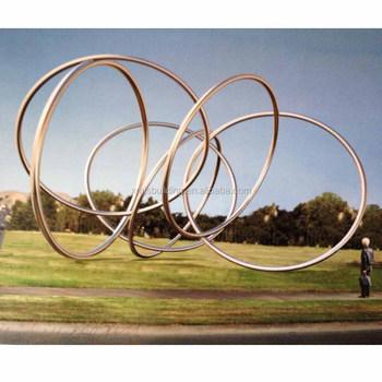 Schöne Garten Moderne Kinetische Abstrakte Kunst Metall Skulptur
