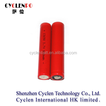 13650 3.7v 800mah Lithium Ion Battery 3.7v Cylinder Lithium Ion ...