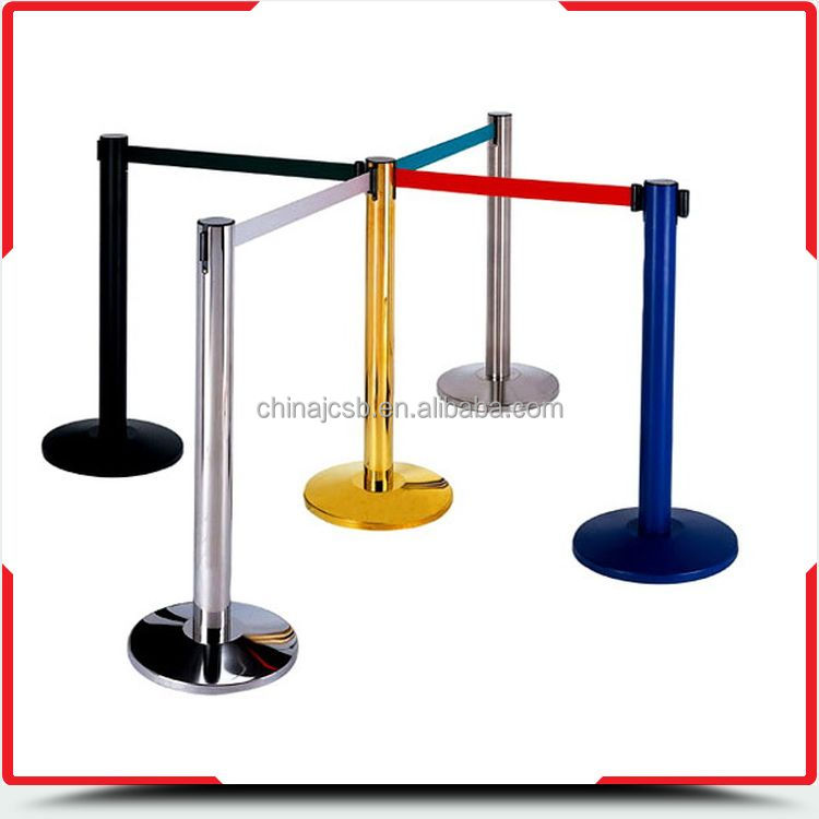 Factory supply bottom price queue rope post pole barriers