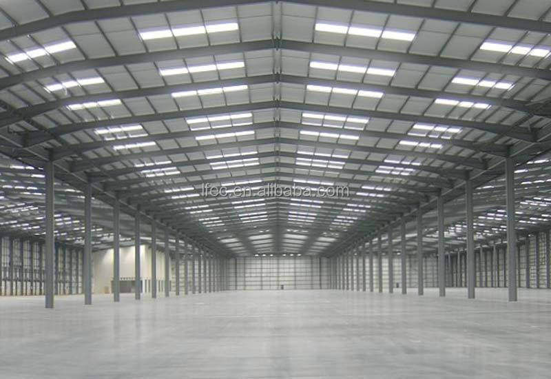 Long span arched light weight steel structure for building