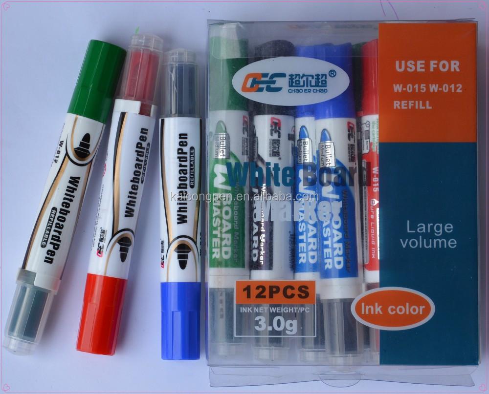 Non Toxic Whiteboard Marker W 015 Dry Erase Marker Refill Ink White