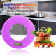 2017 hot sell New design round Mini Digital Kitchen Scales Food Scales promotional gift scales 5kg