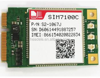 4g Lte Fdd/ldd Module Sim7100 With Interface Spi,I2c,Usb2 0,Uart,Sim Card -  Buy Lte Module Sim7100 With Interface Spi I2c,Fdd/ldd Module Sim7100 With