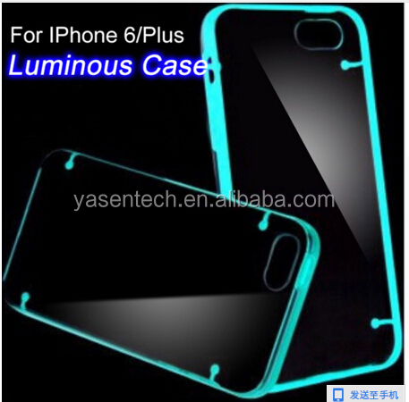 New Ultra Transparent clear TPU back Case Cover for iPhone 5s 5 se 6 6s Light Glow Luminous phone case for iphone