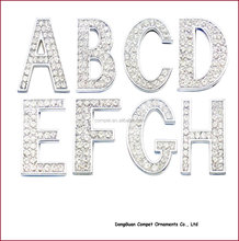 Diy pet Collar Accessories Alloy Alphabets 30mm Full Rhinestone Slide Letters