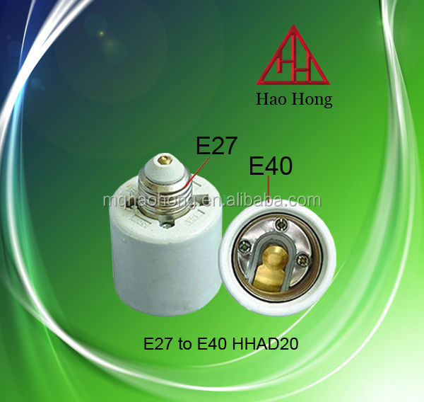 E27 to E40 Ceramic Lamp Base Adapter