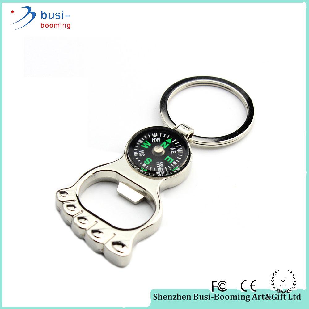 2015 Fashion Zinc Alloy Compass Pendant Key Chain Rings Bulk Gift ...