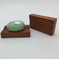 Small Non-Slip Bathroom Shower Bamboo Wooden Soap Dish