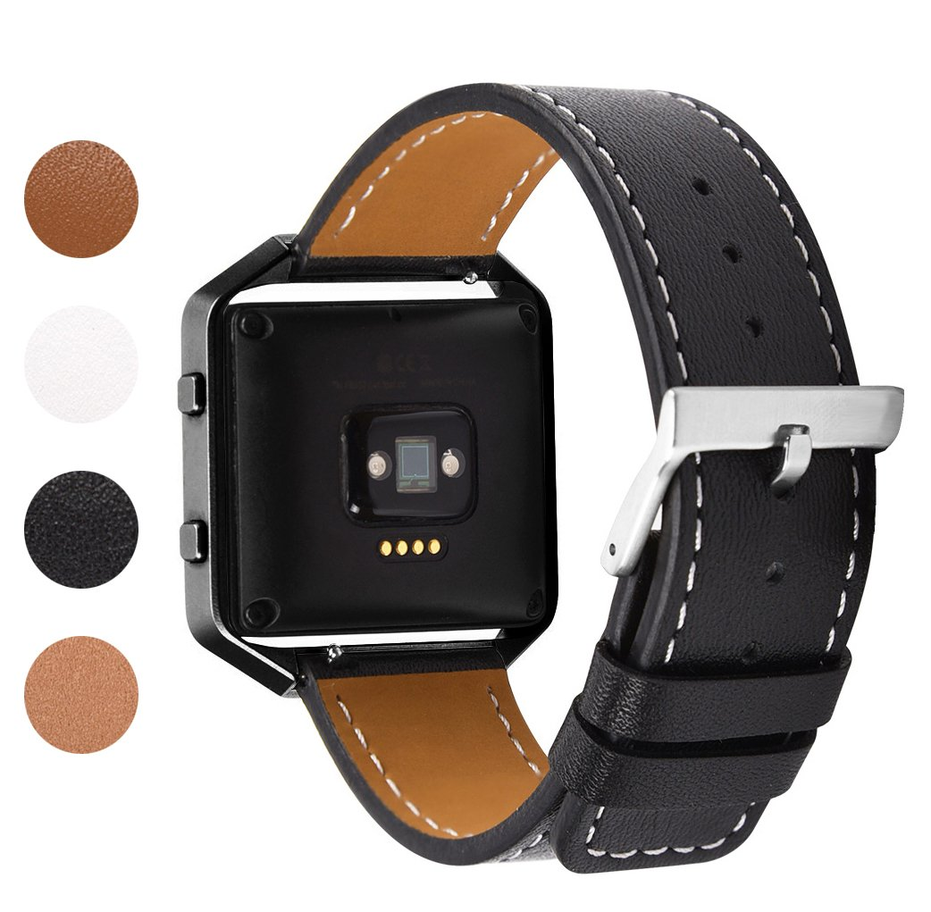 Soulen Fitbit Blaze Band, Fitbit Blaze Leather Band with Metal Frame Small & Large for Fitbit Blaze Fitness