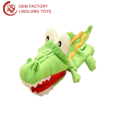 Dinosaur Ventriloquist Puppets Toys Crocodile Plush Hand Puppet For Adult Big Mouth Plush Crocodile Hand Puppet