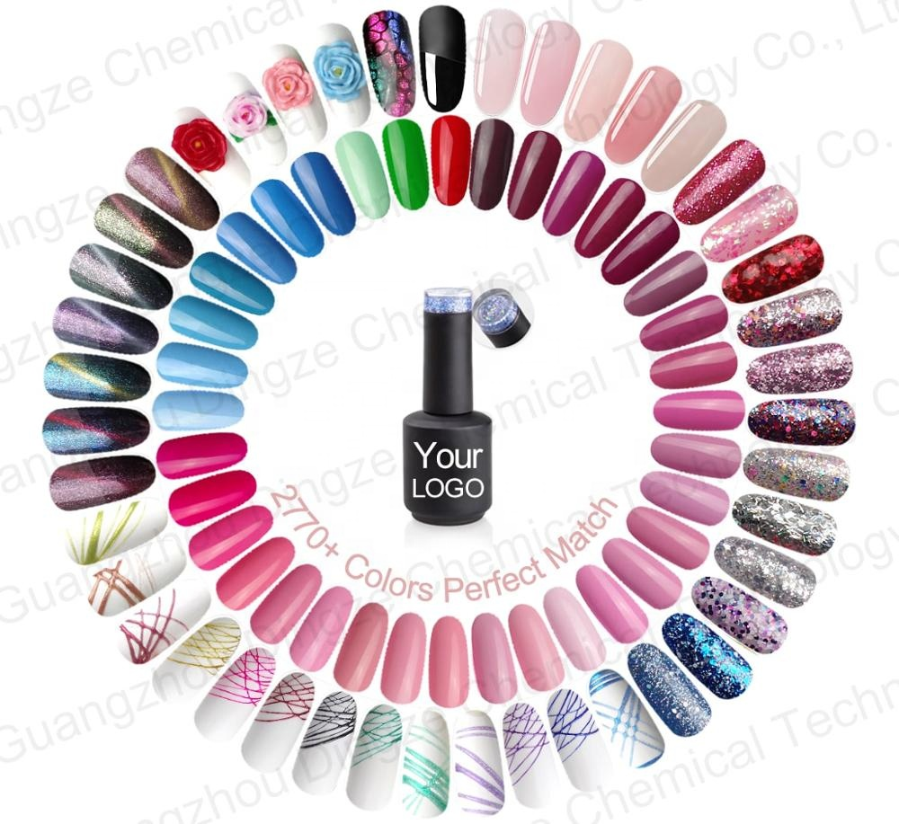 2770 Colors Perfect Match OEM chrome <strong>gel</strong> polish Private Label LED UV <strong>Gel</strong> Nail Polish