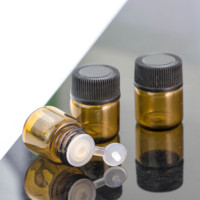 Wholesale 1ml 1/4 Dram 2ml 3ml Amber Glass Vial Essential Oil Bottle with orifice reducer