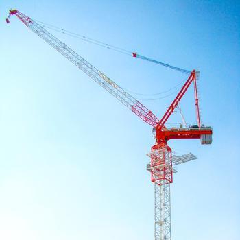 qtd series crane 50m 10t luffer jib crane building construction