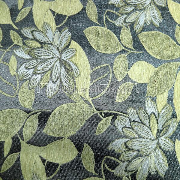 잎 디자인 폴리 에스테르 자카드 셔닐 직물 거실 실내 장식 커버 ...