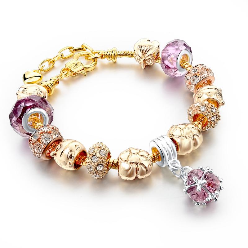 Charm Bracelets Adjule 19 3 Cm Women S Fashion 2017 Jewelry Colorful Bracelet For Gold Handmade