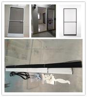 DIY magnetic fly screen/window door screen/aluminum frame mosquito netting fly screen door