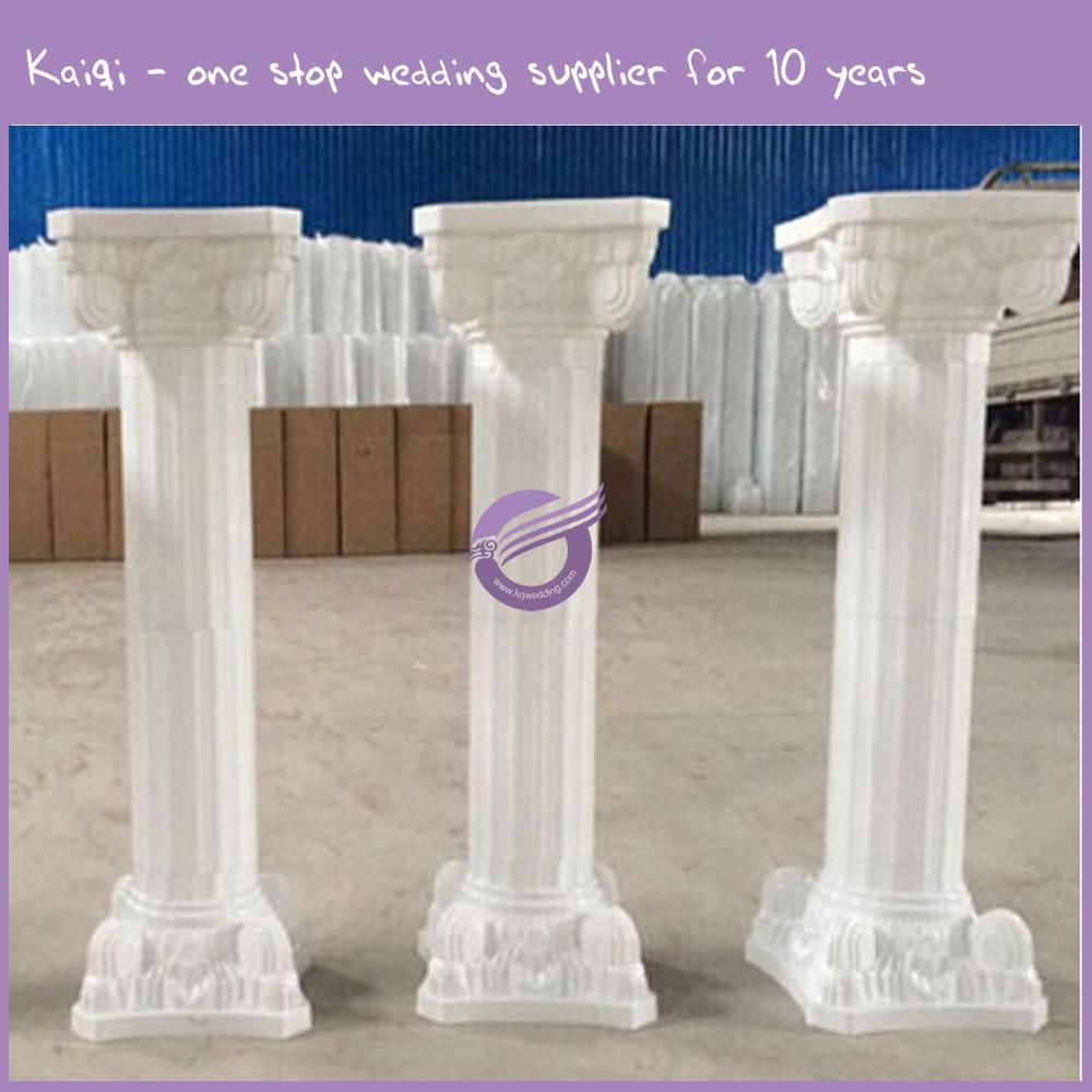 Qt00071 plastic romeinse bruiloft bloem wit kolommen set for Decoracion de paginas