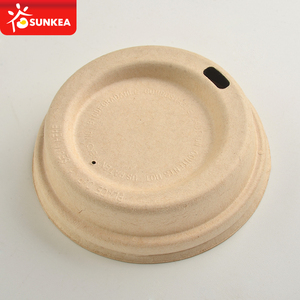 Sugarcane pulp bagasse coffee cup cover cap