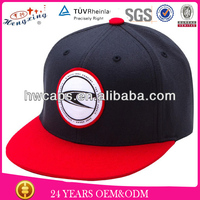 Red Brim Snap Back 6 Panel Cap 3D Embroidery Hat