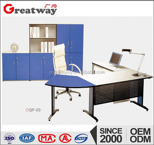 Latest fashion design of hot glass office desk glass roof and steel frame (qf-03)