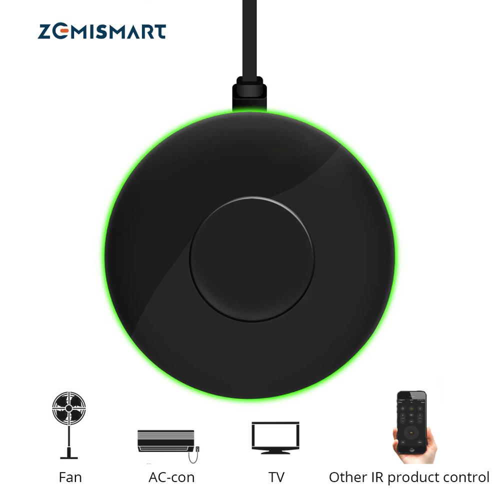 Zemismart IR Bridge Control airconditioning TV Voor Smart Leven App Google Home Alexa Universele Afstandsbediening