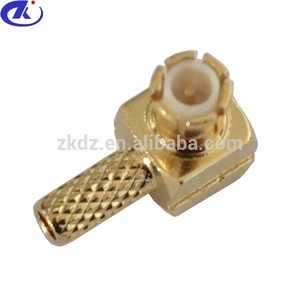 MCX MALE RIGHT ANGLE RF CONNECTOR FOR RG316 CABLE