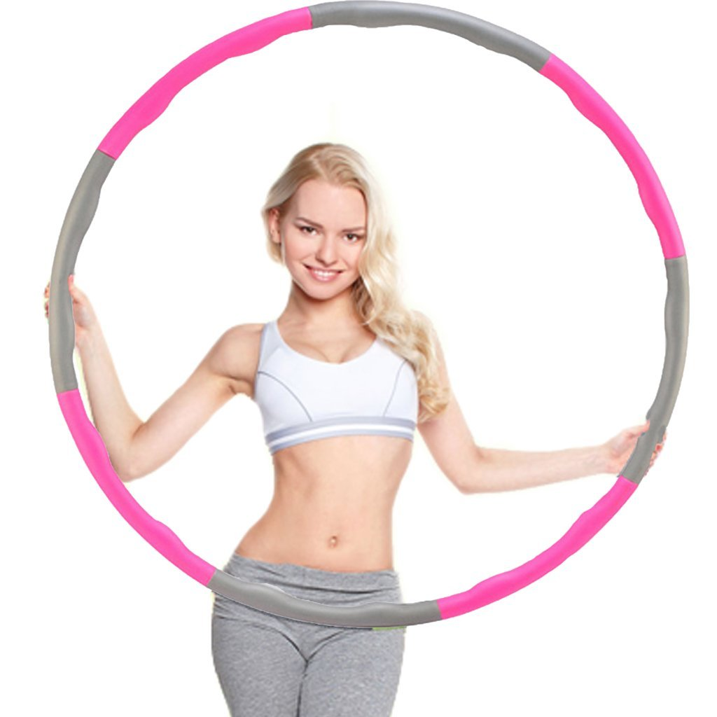 Minch Weighted adult Hula Hoop, Perfect for Dancing Exercise Fitness and Weight Loss