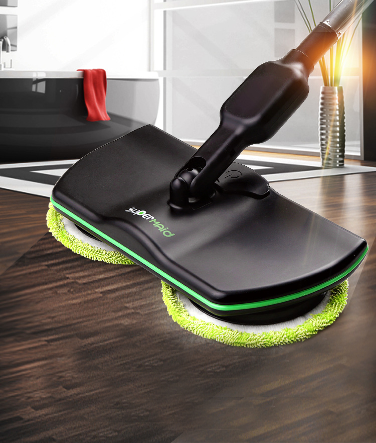 Double Spin Wireless Electric Einfach Euro Clean Microfaser Mopp, Mops Magic Floor Cleaning