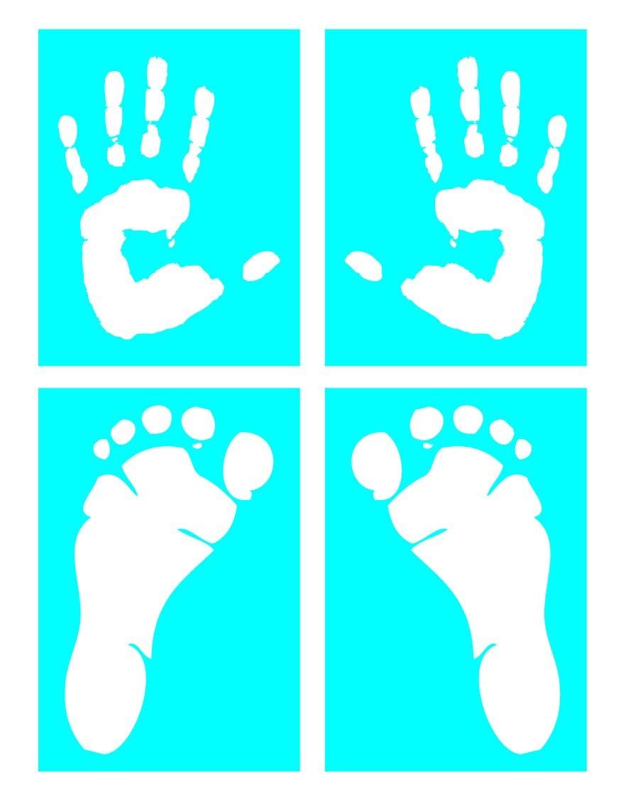 Auto Vynamics - STENCIL-HUMANPRINTSET01-X - Life-Size Handprints & Footprints Stencil Set - With Left & Right, Hand & Foot Designs! - (2) 7-by-9-inch Sheets & (2) 7-by-10-inch Sheets - (4) Piece Kit