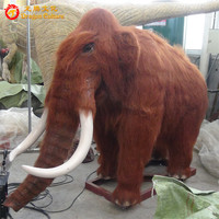 Full-scale animatronic ice age animals model life size mammoth