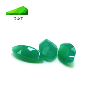 Marquise shape 3x6mm natural green agate green stone