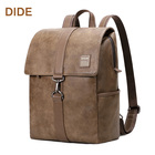 DIDE high quality custom leather school laptop backpack for holding 15.6 inch laptop