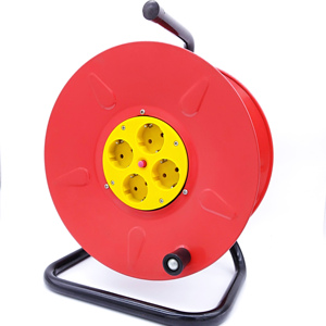 European Extension Cord Steel Power Reel Cord Reel Retractable Cable Reel