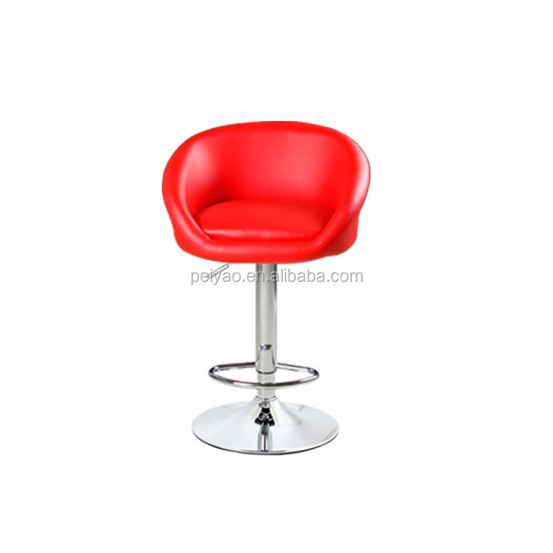 Leather seat bar stool footrest covers swivel bar stool
