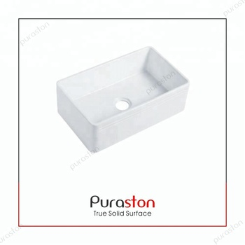China Factory Glazed Ceramic Porcelain Fireclay Kitchen Sink With Single  Bowl Drainboard - Buy Single Bowl Kitchen Sink With Drainboard,Porcelain ...