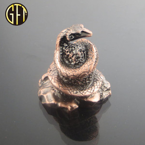 New product New trend in 2018 custom new model 3D 12 Chinese zodiac animal brass metal Snake figurines for souvenir