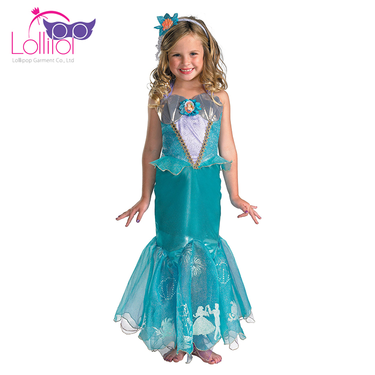 Customized fancy costumes mermaid carnival costumes for girl