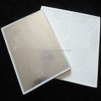 Pvc Laminated Gypsum Ceiling Tile Price 595 7mm