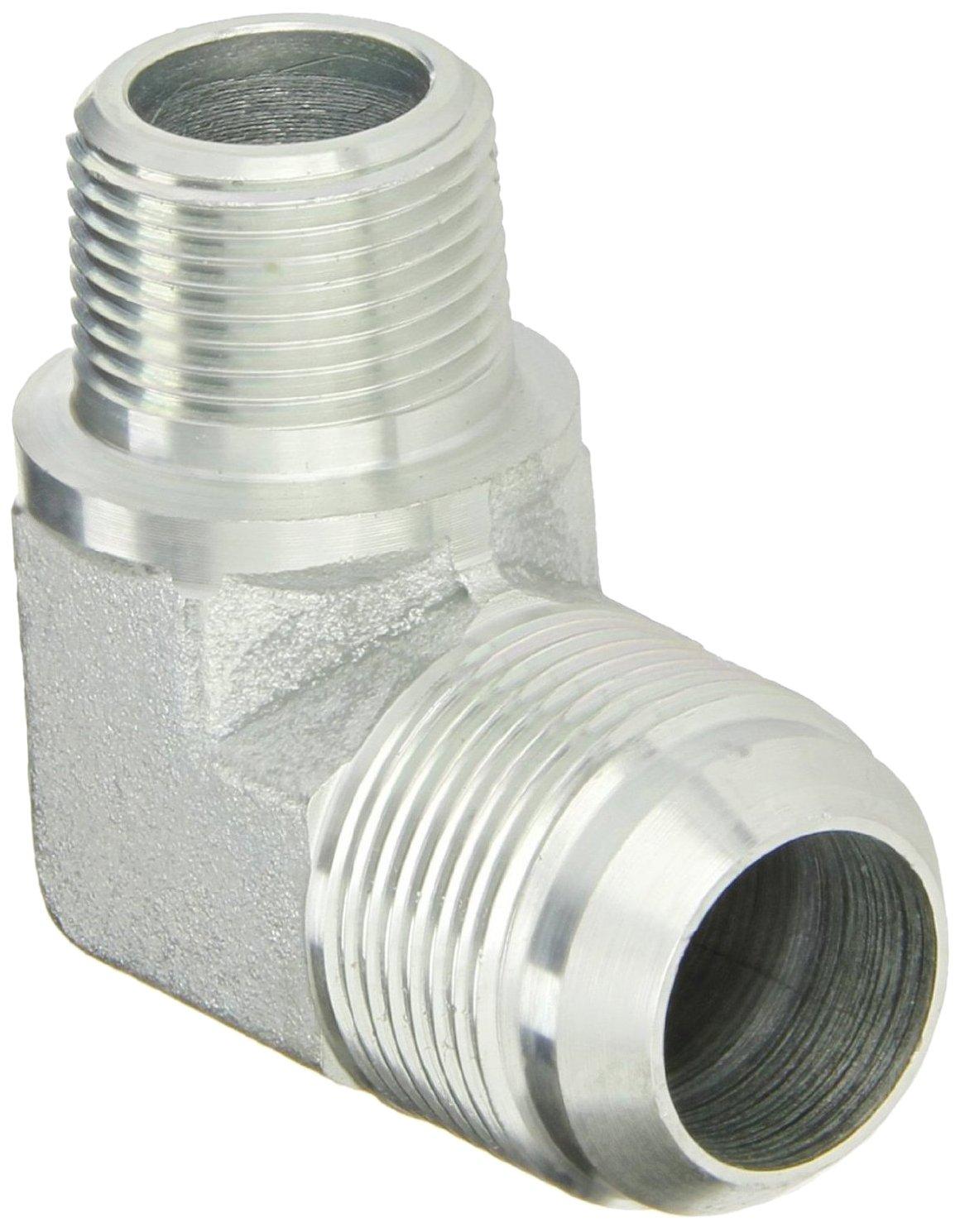 JIC 37 Degree End Types Carbon Steel m 3//8 JIC 3//8 Tube OD Eaton Aeroquip 2043-6-6S 90 Degree Bulkhead Union Elbow End Size