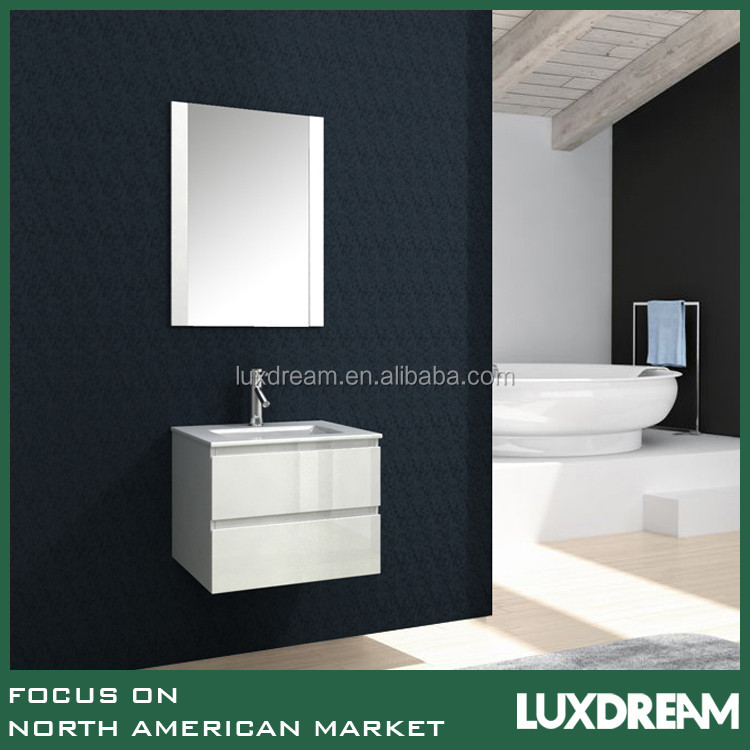 white bathroom vanity cabinte with cupc sink European style