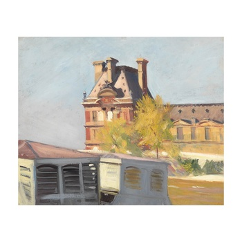 Free Shipping Edward Hopper Giclee Canvas Print Paintings Poster Reproduction Fine Art Wall Decor(Le Pavillon De Flore)