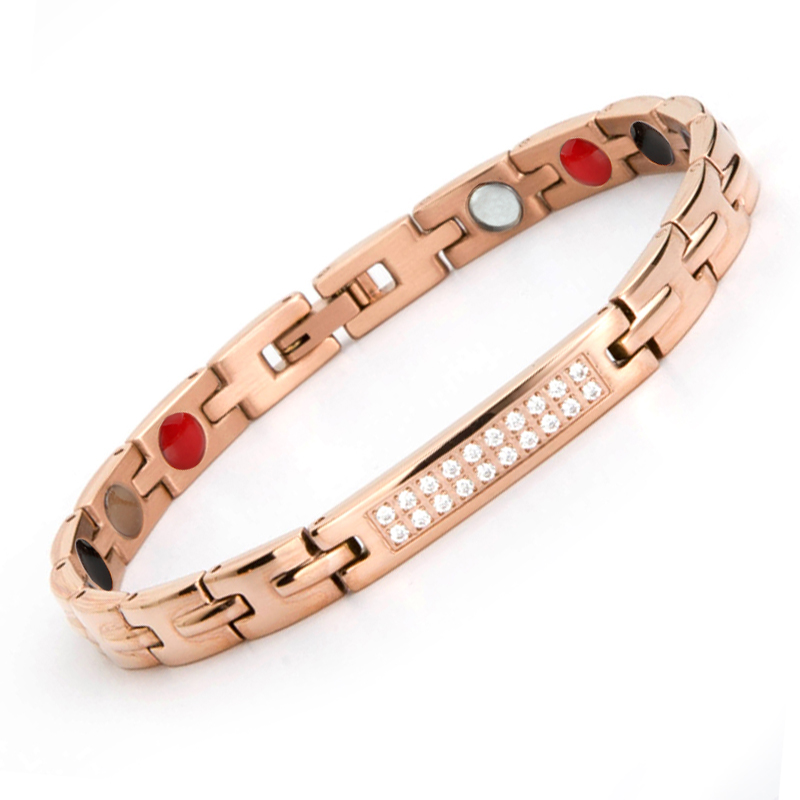 New arrival bow tie design rose gold plated women germanium bracelet japan