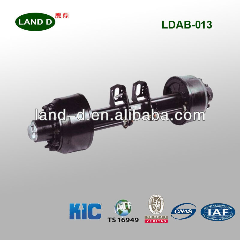 Manufacture Truck Parts 18T European Type Light Weight Trailer Axle