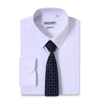 Get free sample High quality Uniform shirt with tie,white shirt formal