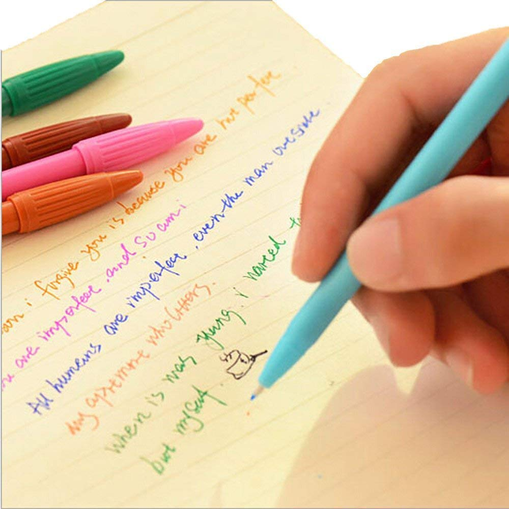 Office Home 24 Colored Pen Set Watercolor Marker Drawing Sketching Journaling Coloring Pen 0.3mm