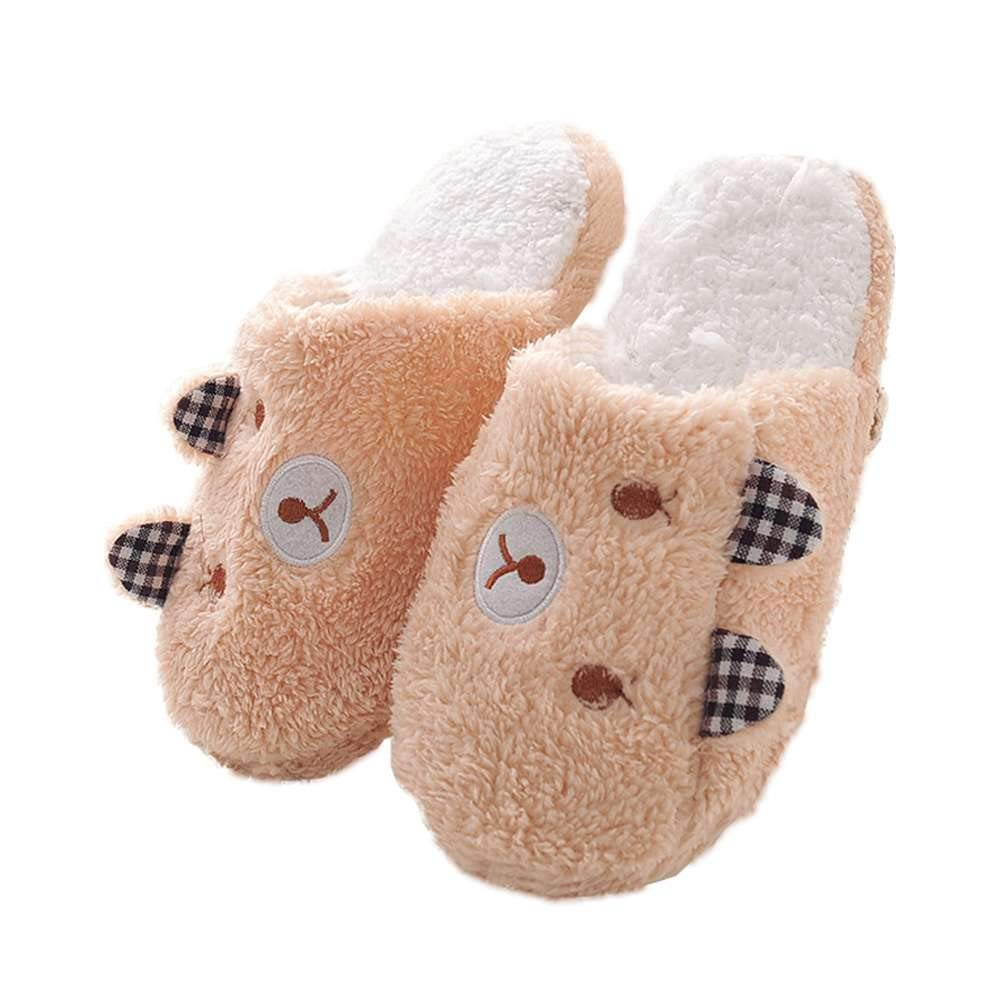 1bfea3633f8 Get Quotations · Womens House Slippers Fuzzy Animal Ladies Cute Bedroom  Indoor Winter Slippers