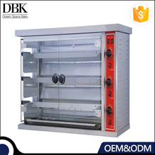 Stainless steel chicken rotisserie oven 3 layer electric roast chicken oven equipment with best price