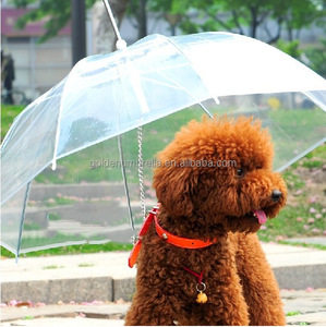 New Foldable Waterproof White transparent Pet Plastic Umbrella For Dog,High Quality Pet Dog Umbrella,Outdoor