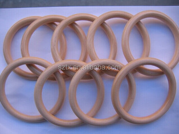 Chinese Circle Wooden Curtain Rings For Rod