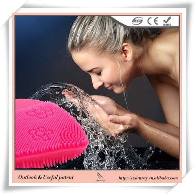 Private Label Makeup Brush Recharging Silicone Face Scrubber Washing Safer And Cleaner